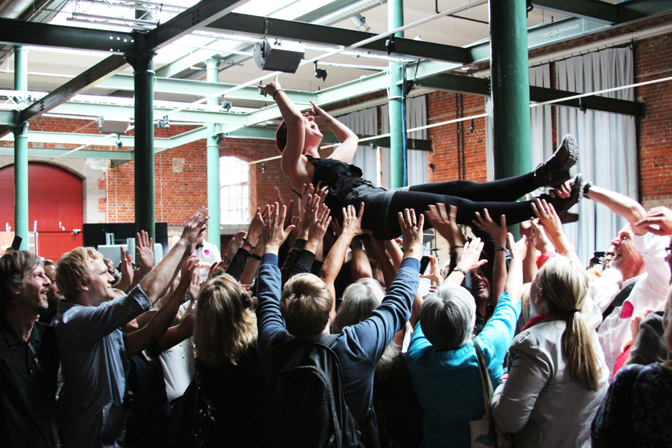 The-Conference-Ruth-Daniels-first-crowdsurf-SF